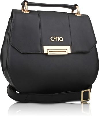 Ccha Girls Black PU Sling Bag