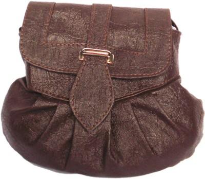 WEEBILL Girls Brown PU Sling Bag