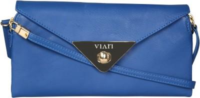 Viari Women Casual Blue Genuine Leather Sling Bag