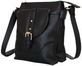 Lychee Bags Women Black PU Sling Bag