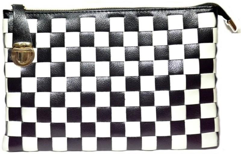 Cathriem Women Casual Black, White PU Sling Bag DI227C