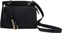 AND Girls Black PU Sling Bag