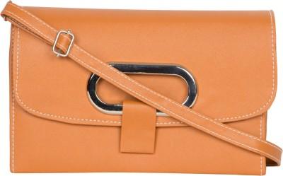 MTE Girls Yellow Leatherette Sling Bag