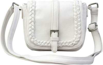 Ayeshu Women White PU Sling Bag