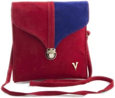 Voaka Girls, Women Red, Blue Leatherette Sling Bag