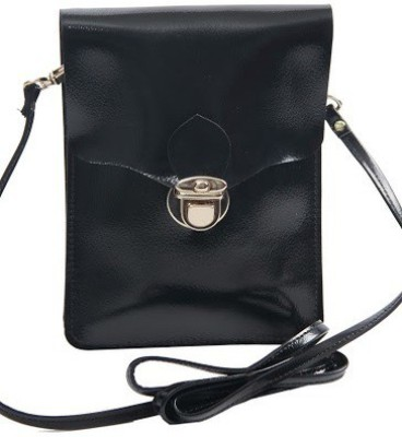 Kuero Girls, Women Black Leatherette Sling Bag