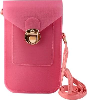 Thebagzone Women Pink PU Sling Bag