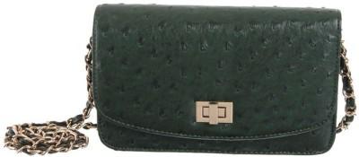 Peaubella Women, Girls Green PU Sling Bag
