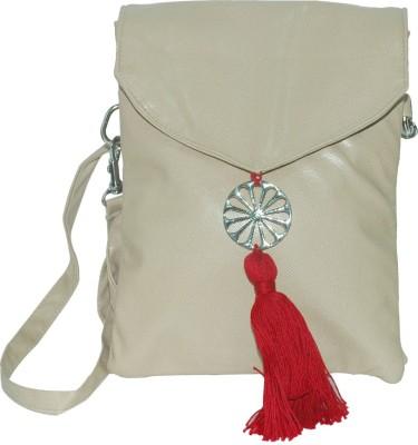 Arabian Nights Women Grey Leatherette Sling Bag