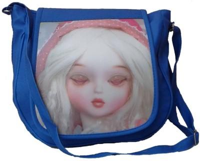 Goldeno Girls Blue PU Sling Bag