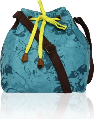 Lost & Found Women Blue, Brown Polyester Sling Bag