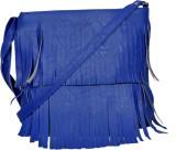 Speed Dot Women Blue Rexine Sling Bag