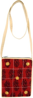 Viniyog Women Casual Maroon Cotton Sling Bag