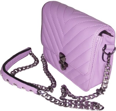 DesireMore Girls Evening/Party Purple Rexine Sling Bag