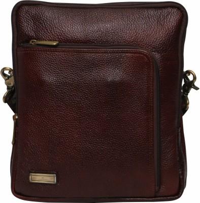 C Comfort Men, Boys, Girls, Women Brown Genuine Leather Sling Bag