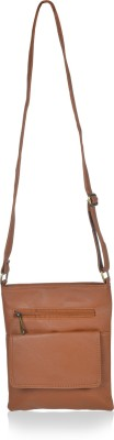 Alessia74 Women Tan PU Sling Bag