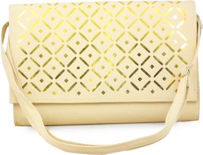 Felicita Women Casual Beige PU Sling Bag