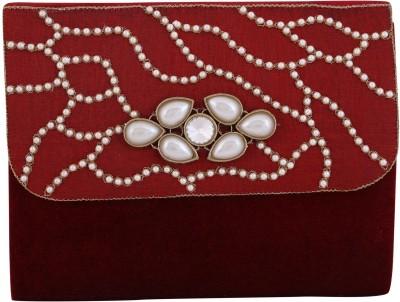 Vdesi Ethnic Women Casual, Evening/Party, Formal, Festive Maroon, Gold, White Velvet, Silk Sling Bag