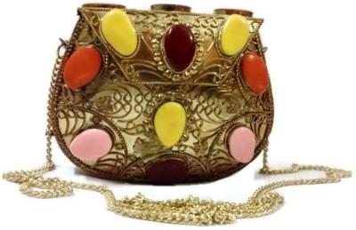 TREND OVERSEAS Girls Multicolor Metal Sling Bag