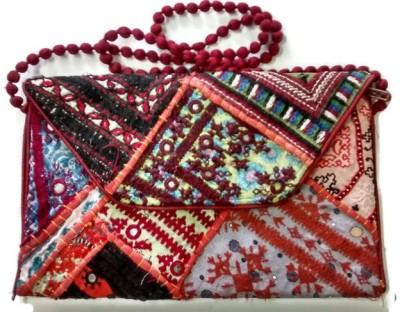 Trend Overseas Girls Multicolor Silk Sling Bag