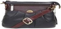 Bessel Women Black Genuine Leather Sling Bag