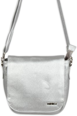 Merci Women Silver PU Sling Bag