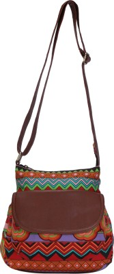 Ayeshu Girls Multicolor Canvas Sling Bag