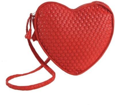 Swayam Girls Festive Red PU Sling Bag