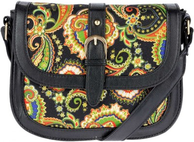 iva Women Black Leatherette Sling Bag