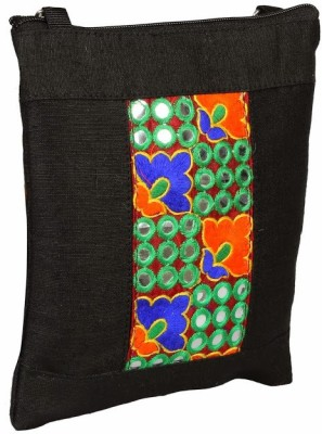 Jute Tree Girls Black Jute Sling Bag