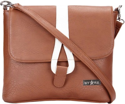 Starz Women, Girls Brown, White PU Sling Bag