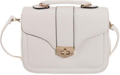 Peaubella Girls, Women Beige Leatherette Sling Bag