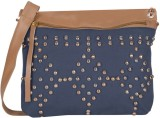 Kanvas Katha Women Blue Canvas Sling Bag