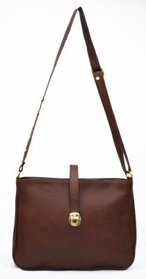 inkdice Girls, Women Brown, Gold Leatherette Sling Bag