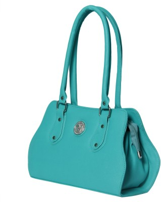 Heels And Toes Women Green Leatherette Sling Bag