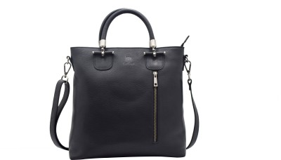 Le Craf Women Formal Black Genuine Leather Tote