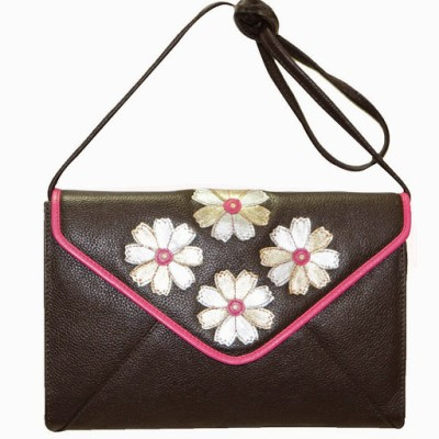 Jeane Sophie Women Casual, Evening/Party Brown Genuine Leather Sling Bag
