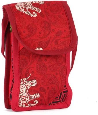 Cute Things Girls, Women Red Cotton Sling Bag