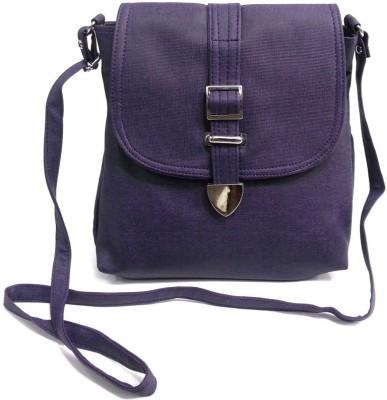 Belladona Women, Girls Purple PU Sling Bag