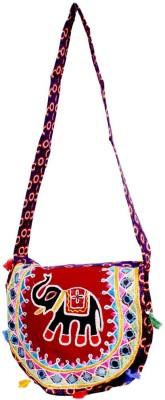 Amazing India Girls Casual Multicolor Cotton Shoulder Bag