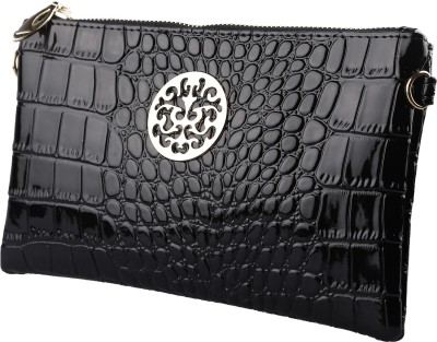Stylehoops Women, Girls Black PU Sling Bag