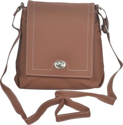 Freddys Men, Women Casual Brown PU Sling Bag