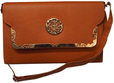 Navaksha Women Brown PU Sling Bag