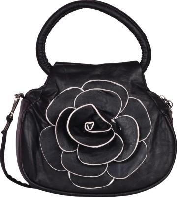 Prettyvogue Women Black PU Sling Bag