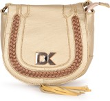 Diana Korr Women Gold PU Sling Bag