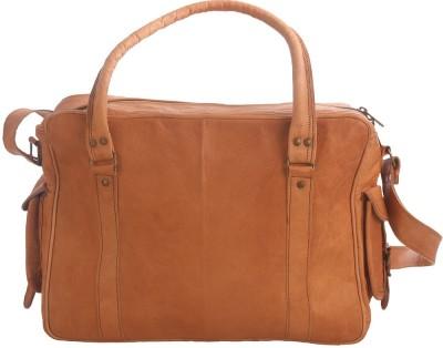 Just Differ Men Tan Genuine Leather Messenger Bag