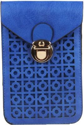 Harp Girls, Women Blue Leatherette Sling Bag