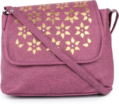 Star Style Women Casual Purple Leatherette Sling Bag