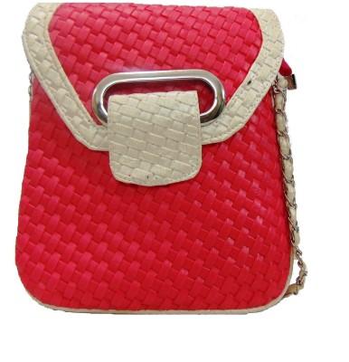 Estoss Women Casual Pink PU Sling Bag