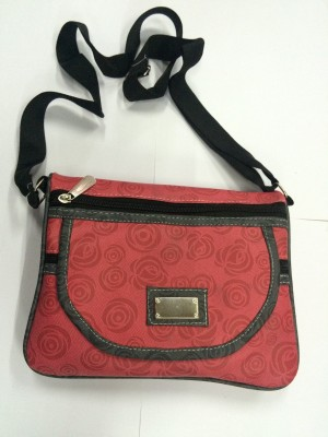 Racial Girls Red Rexine Sling Bag